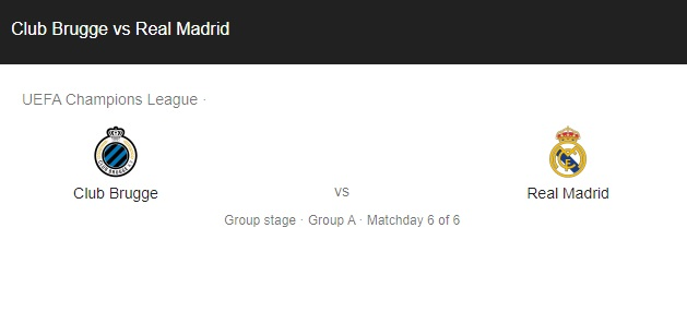 Club Brugge vs Real Madrid Preview