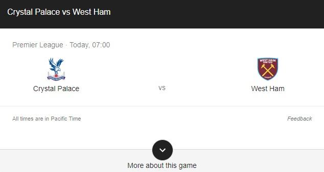 Crystal Palace vs West Ham Preview