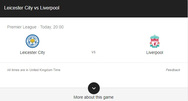 Leicester vs Liverpool Preview