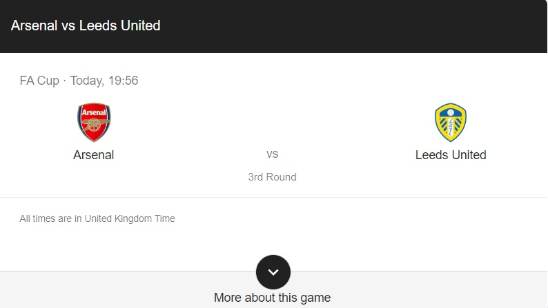 Arsenal vs Leeds United Preview & Info
