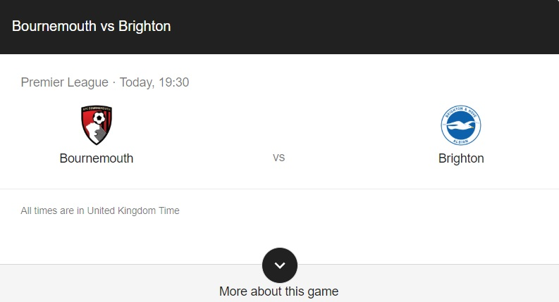 Bournemouth vs Brighton Preview & Live Stream info