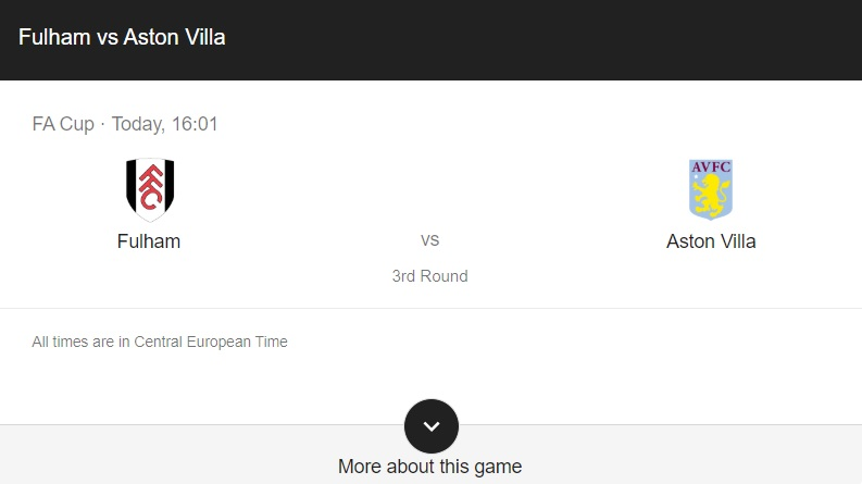 Fulham vs Aston Villa Preview & info