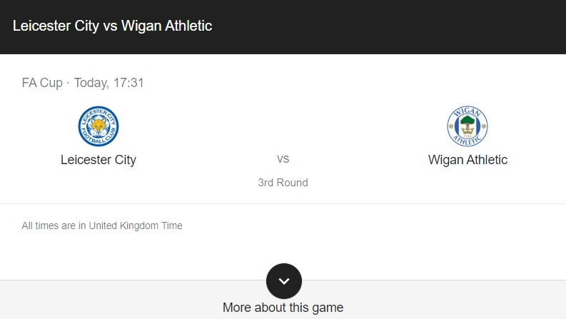 Leicester vs Wigan Preview & info
