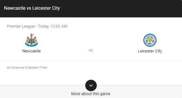 Newcastle United vs Leicester Preview & info
