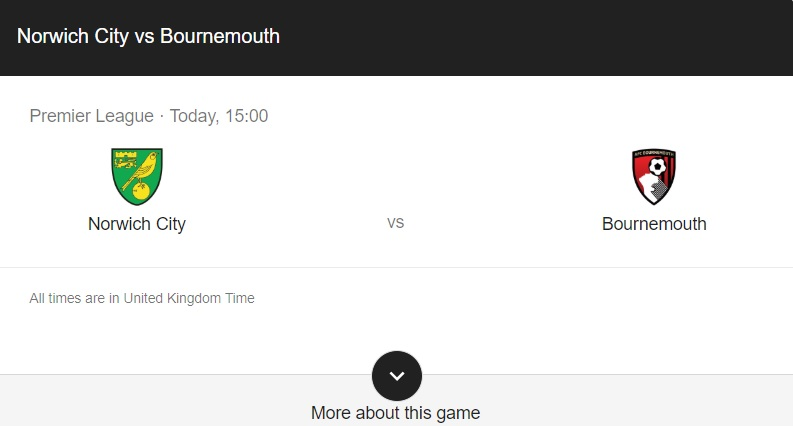 Norwich vs Bournemouth Preview & Info