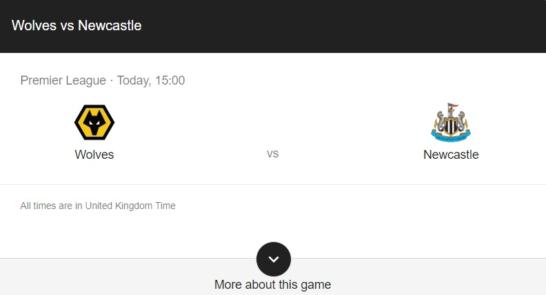 Wolves vs Newcastle Preview & Info